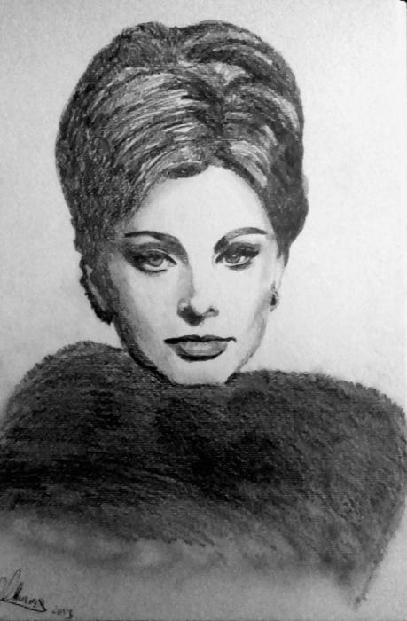 Sophia Loren by Lindasart